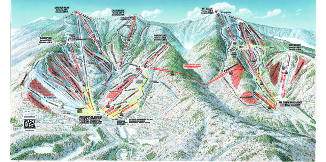 Sugarbush Pistenplan