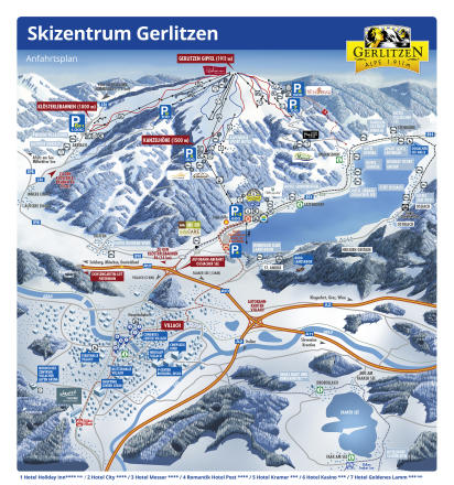 Gerlitzen Trail Map