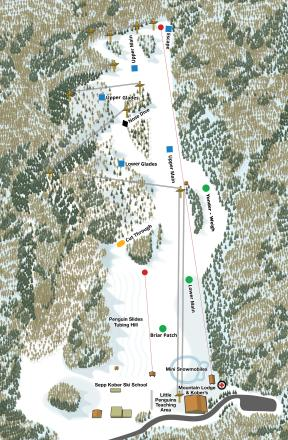 Skiing Virginia Map.The Homestead Ski Area Trail Map Onthesnow