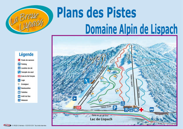 La Bresse Lispach Trail Map