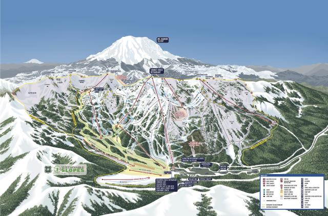 Crystal Mountain Plan des pistes