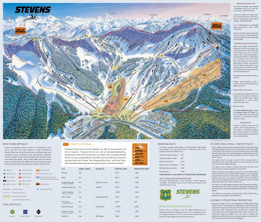 Stevens Pass Resort Mappa piste