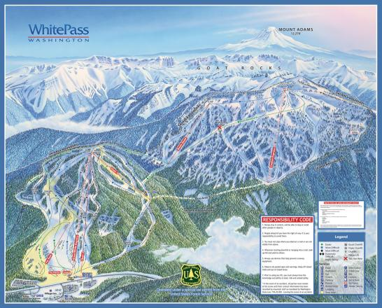 White Pass Map White Pass Trail Map | OnTheSnow