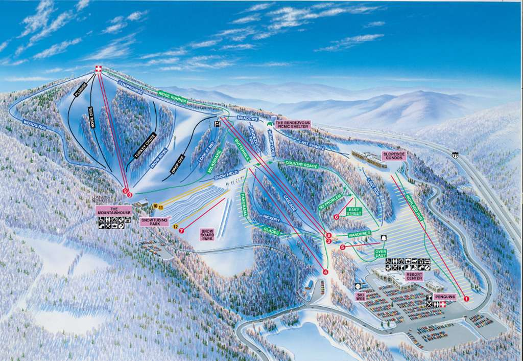 Ski Virginia Map.Winterplace Ski Resort Trail Map Onthesnow