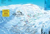 Roldal Piste Map
