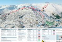 Voss Fjellandsby - Myrkdalen Trail Map