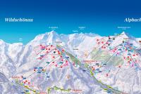 Alpbach - Ski Juwel Alpbachtal Wildschönau Mapa zjazdoviek
