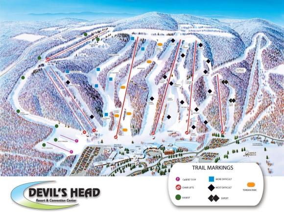 Devils Head Plan des pistes