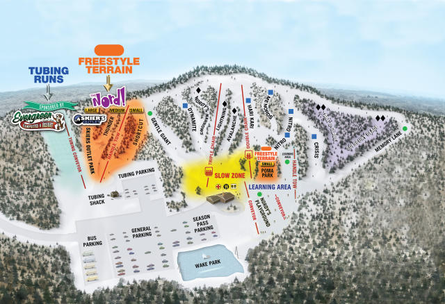 Nordic Mountain Piste Map