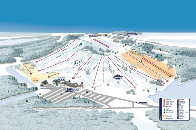 Wilmot Mountain Piste Map