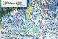 Sleeping Giant Ski Resort Plan des pistes