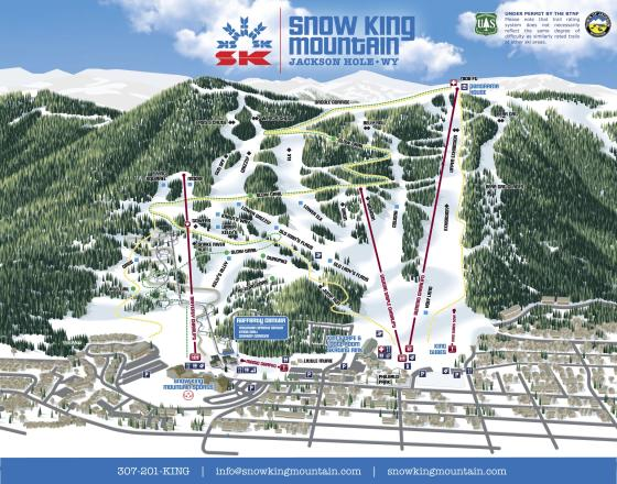 Snow King Resort Pistenplan
