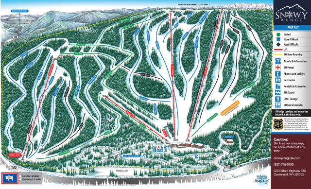 Snowy Range Ski & Recreation Area Pistenplan