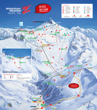 Hintertuxer Glacier Piste Map